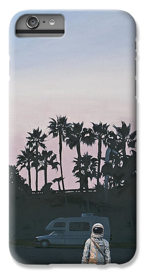 Astronaut IPhone 6 Plus Case featuring the painting Rv Dusk by Scott Listfield