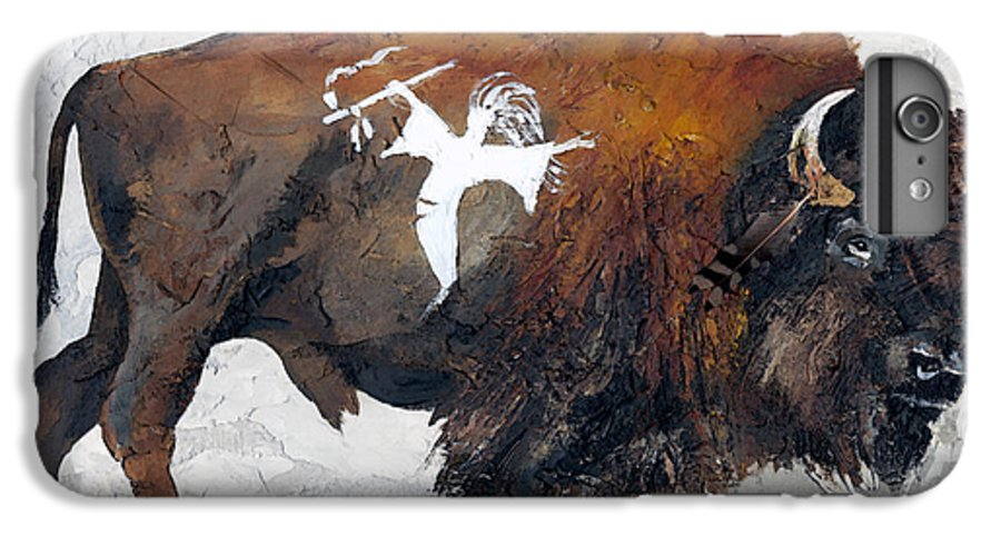 Southwest Art IPhone 6 Plus Case featuring the painting Sacred Gift by J W Baker