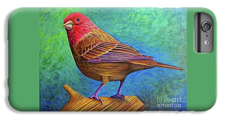 Bird IPhone 6 Plus Case featuring the painting Sacred Space by Brian Commerford