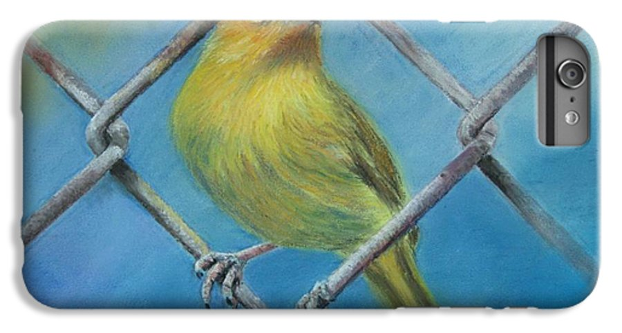 Bird IPhone 6 Plus Case featuring the painting Safron Finch by Ceci Watson