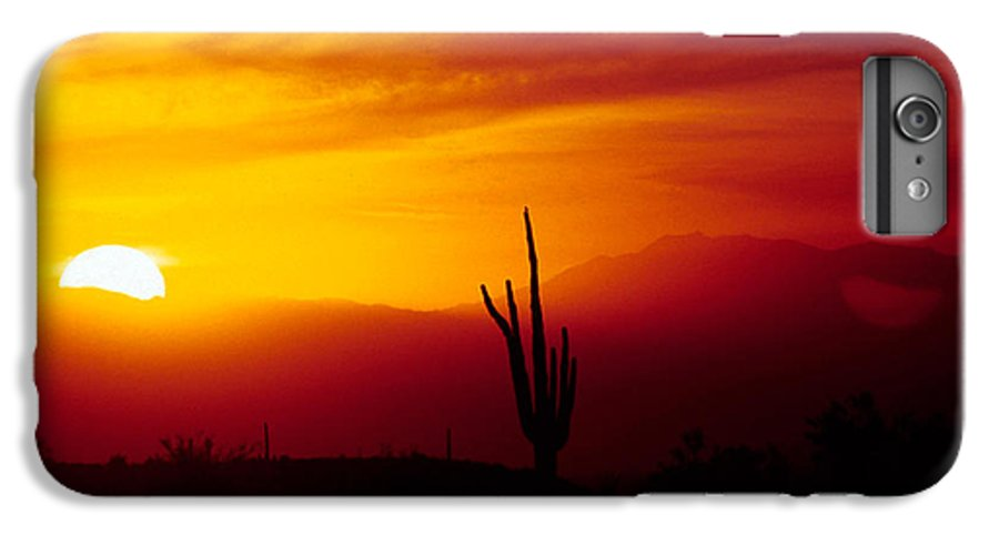 Arizona IPhone 6 Plus Case featuring the photograph Saguaro Sunset by Randy Oberg