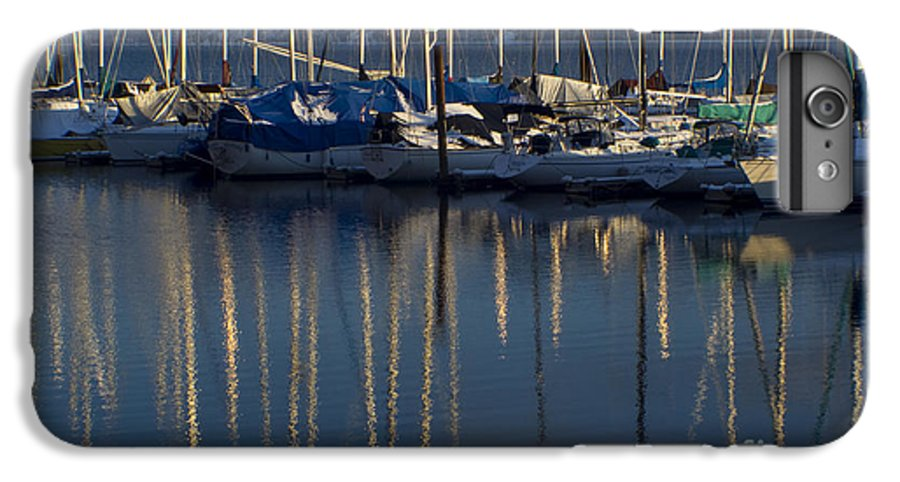 Mast IPhone 6 Plus Case featuring the photograph Sailboat Reflections by Idaho Scenic Images Linda Lantzy