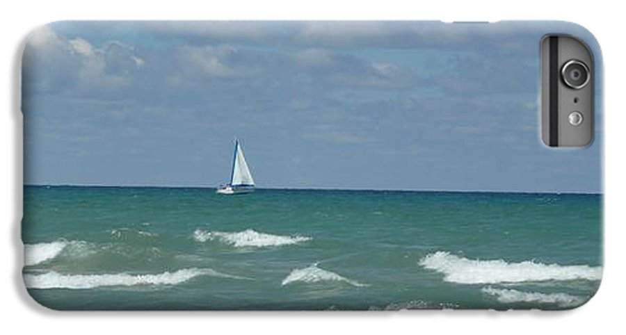 Scenery IPhone 6 Plus Case featuring the photograph Sailing Away On The Lake by Barb Montanye Meseroll
