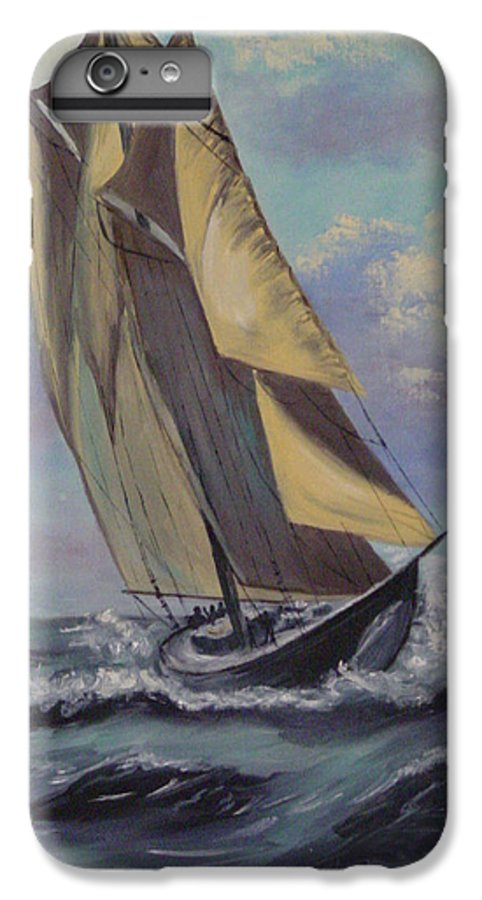 Ocean IPhone 6 Plus Case featuring the painting Sailing by Quwatha Valentine