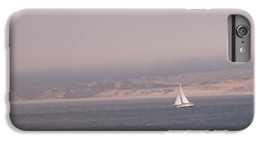 Sailing Sail Sailboat Boating Boat Ocean Pacific Bay Sea Seascape Nature Outdoors Marine Beach IPhone 6 Plus Case featuring the photograph Sailing Solo by Pharris Art