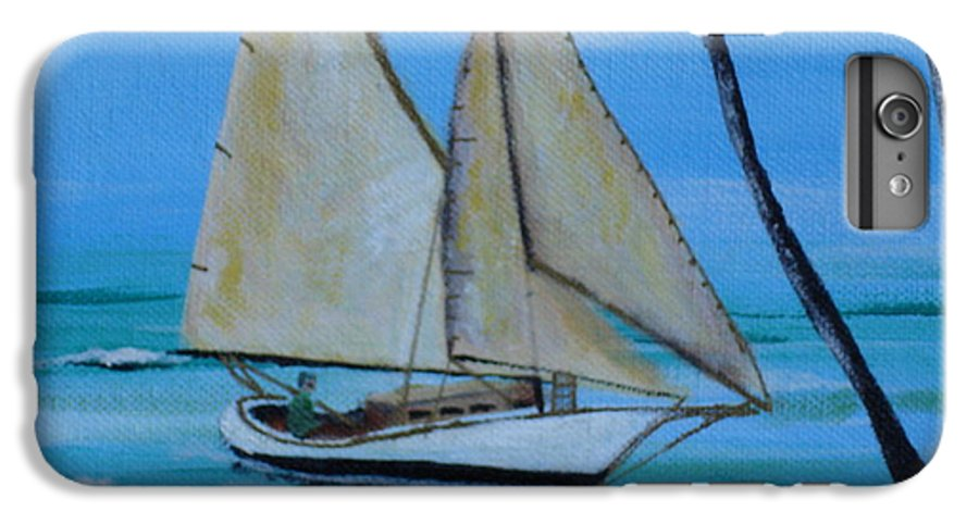 Sailboat IPhone 6 Plus Case featuring the painting Sailor's Dream by Susan Kubes