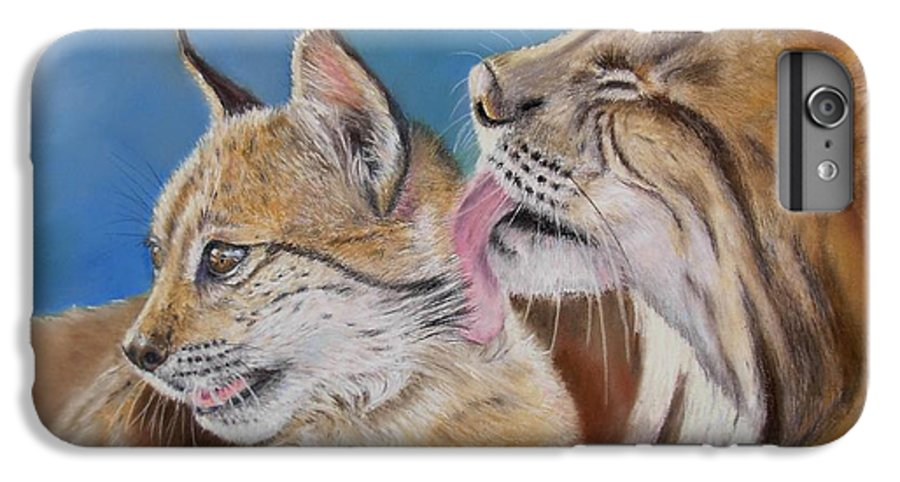 Iberian Lynx IPhone 6 Plus Case featuring the painting Saliega Y Brezo by Ceci Watson