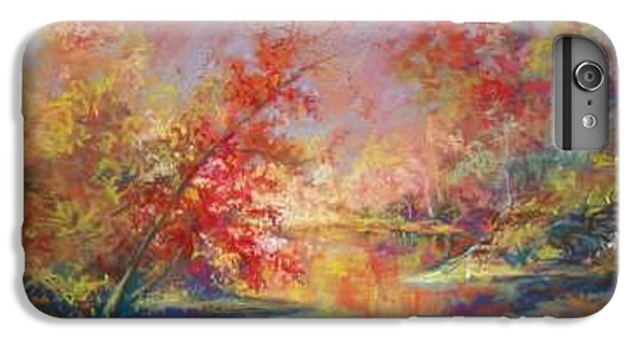Landscape In Autumn IPhone 6 Plus Case featuring the painting Saline River View by Marlene Gremillion