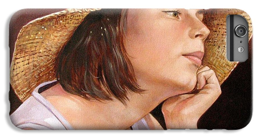 Portrait IPhone 6 Plus Case featuring the painting Sammie by Jerrold Carton