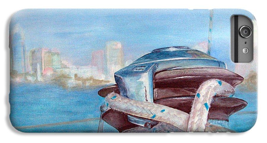 Landscape IPhone 6 Plus Case featuring the painting San Diego by Muriel Dolemieux