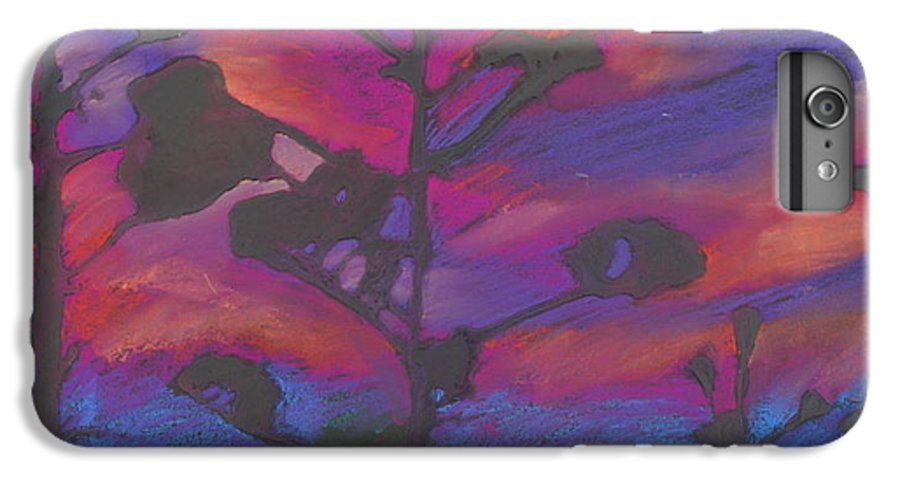 Contemporary Tree Landscape IPhone 6 Plus Case featuring the mixed media San Diego Sunset by Leah Tomaino