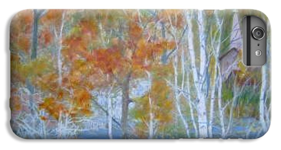 Church; Landscape; Birch Trees IPhone 6 Plus Case featuring the painting Sanctuary by Ben Kiger