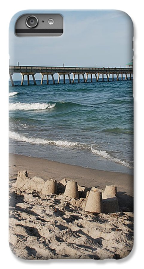Sea Scape IPhone 6 Plus Case featuring the photograph Sand Castles And Piers by Rob Hans