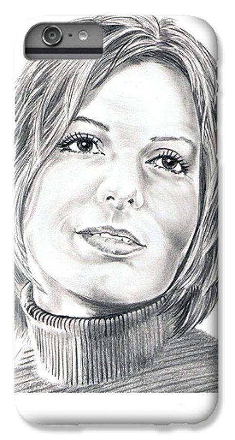 Drawing IPhone 6 Plus Case featuring the drawing Sandra Bullock by Murphy Elliott