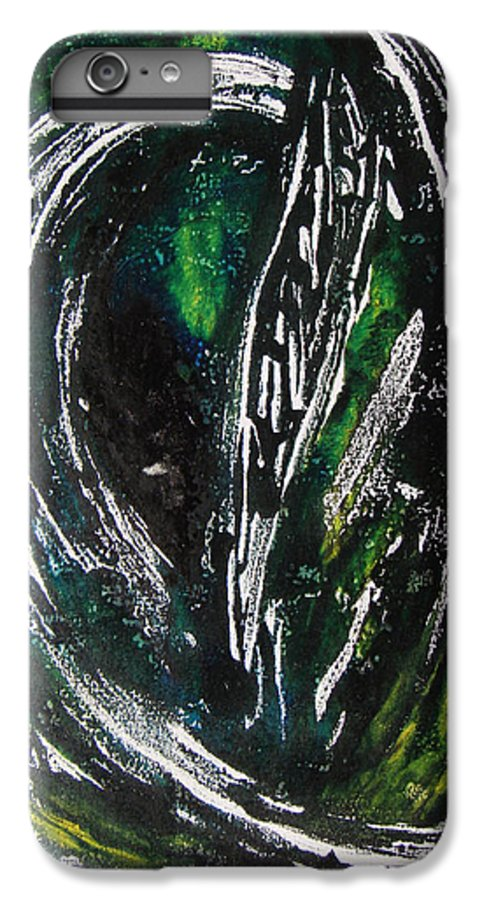 Abstract IPhone 6 Plus Case featuring the painting Sans Fin by Muriel Dolemieux
