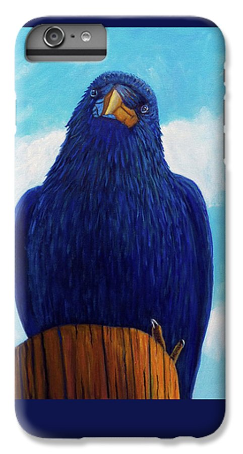 Raven IPhone 6 Plus Case featuring the painting Santa Fe Smile by Brian Commerford