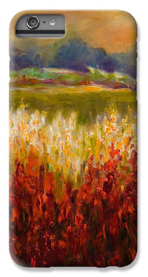 Landscape IPhone 6 Plus Case featuring the painting Santa Rosa Valley by Shannon Grissom