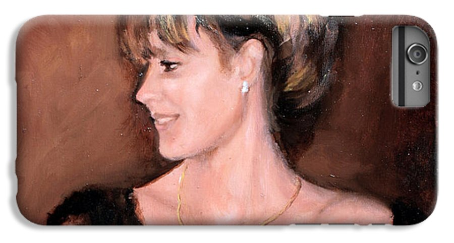 Portrait IPhone 6 Plus Case featuring the painting Sara by Mario Zampedroni