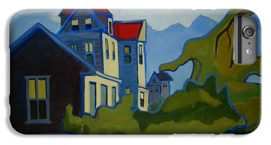 Buildings IPhone 6 Plus Case featuring the painting Sarah Paul by Debra Bretton Robinson