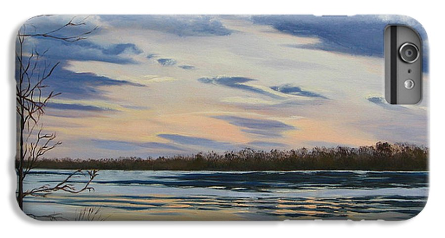 Clouds IPhone 6 Plus Case featuring the painting Scenic Overlook - Delaware River by Lea Novak