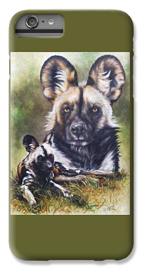 Wild Dogs IPhone 6 Plus Case featuring the mixed media Scoundrel by Barbara Keith