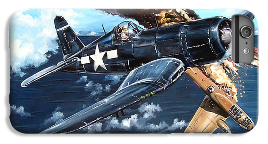 Military IPhone 6 Plus Case featuring the painting Scratch One Betty by Marc Stewart