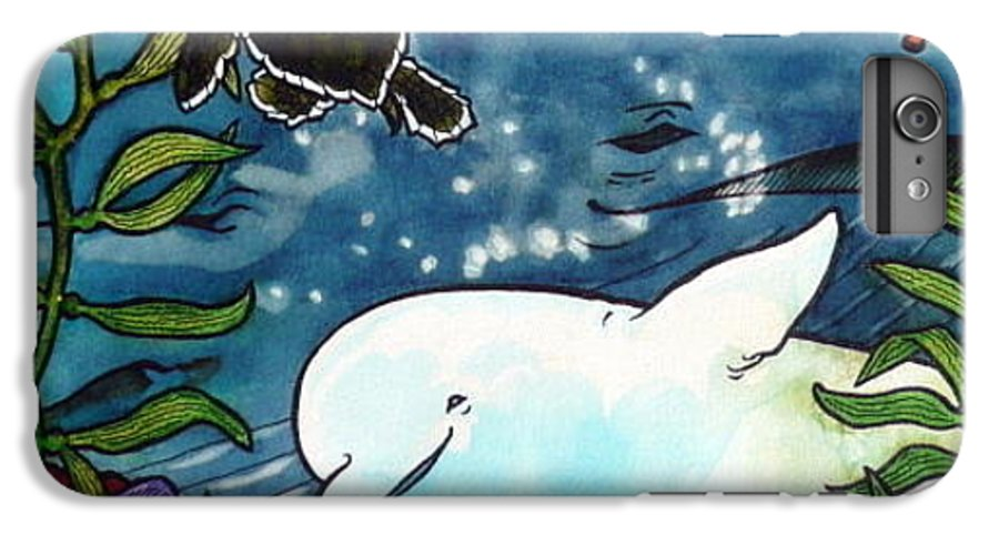 Whale IPhone 6 Plus Case featuring the painting Sea Fun by Jill Iversen