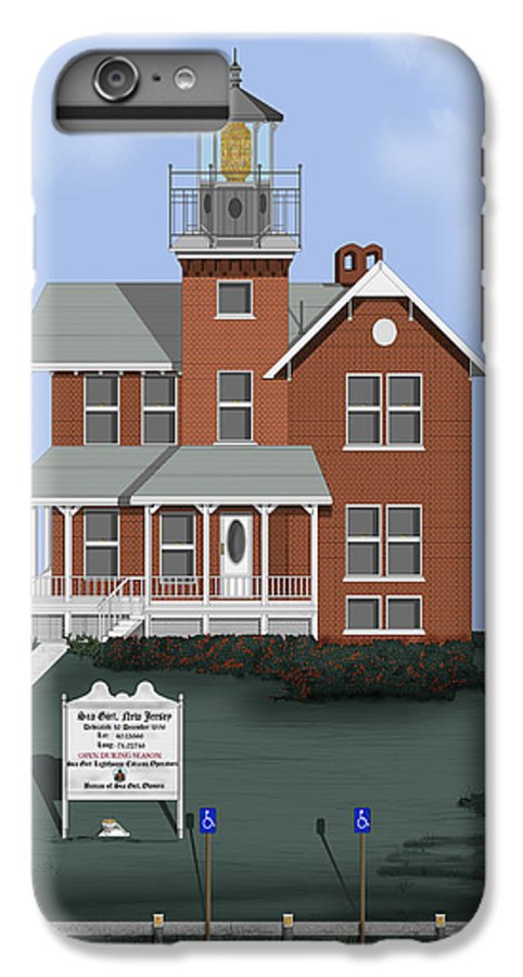 Lighthouse IPhone 6 Plus Case featuring the painting Sea Girt New Jersey by Anne Norskog