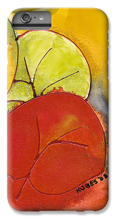 Leaf IPhone 6 Plus Case featuring the painting Sea Grapes by Susan Kubes