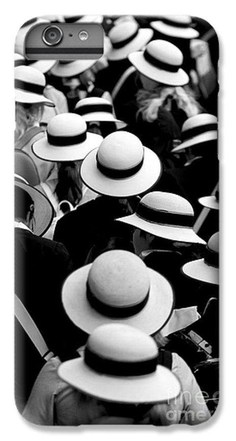 Hats Schoolgirls IPhone 6 Plus Case featuring the photograph Sea Of Hats by Avalon Fine Art Photography