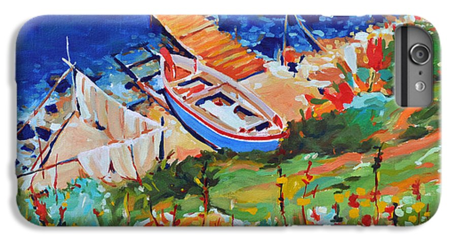 Seascape IPhone 6 Plus Case featuring the painting Seacoast by Iliyan Bozhanov