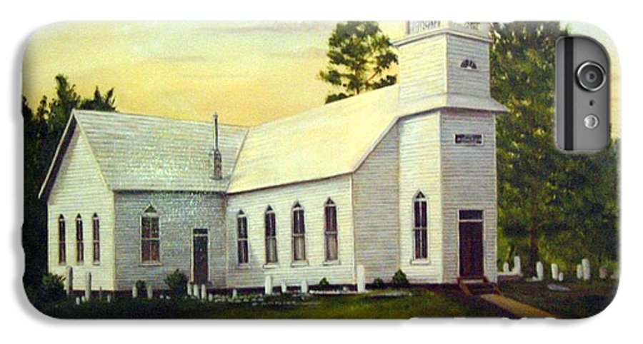 Church IPhone 6 Plus Case featuring the painting Seaford Zion Methodist Church by Anne Kushnick