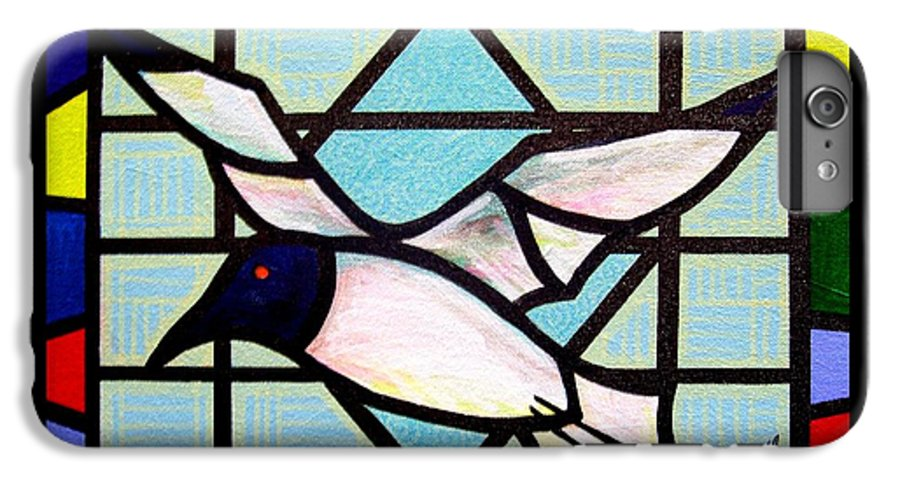 Seagull IPhone 6 Plus Case featuring the painting Seagull Serenade by Jim Harris