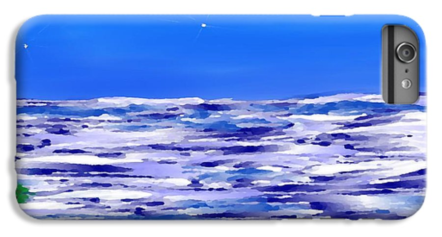 Sea.evening.night.silence.water.waves.deep Water.quiet .coast.sky.stars.calm.no Wind IPhone 6 Plus Case featuring the digital art Sea.moon Light by Dr Loifer Vladimir