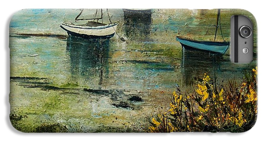 Seascape IPhone 6 Plus Case featuring the print Seascape 78 by Pol Ledent