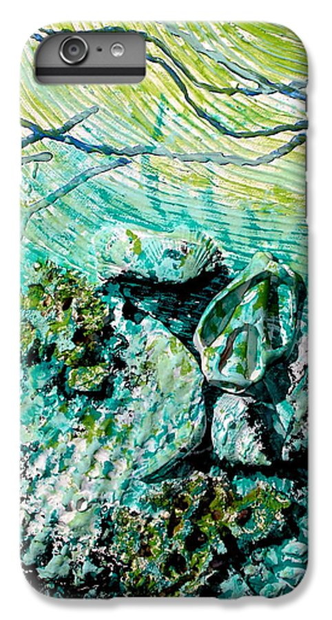 Seashell IPhone 6 Plus Case featuring the sculpture Seashell Collage by Susan Kubes