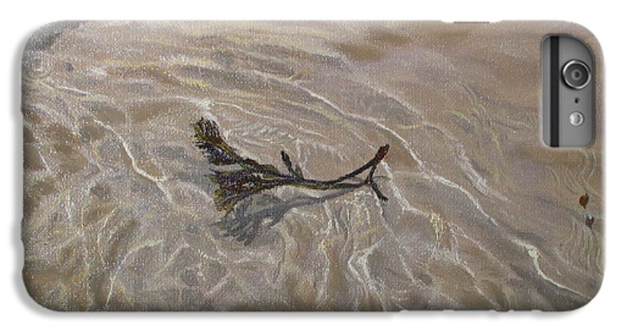 Seascape IPhone 6 Plus Case featuring the painting Seashore Reflections by Lea Novak