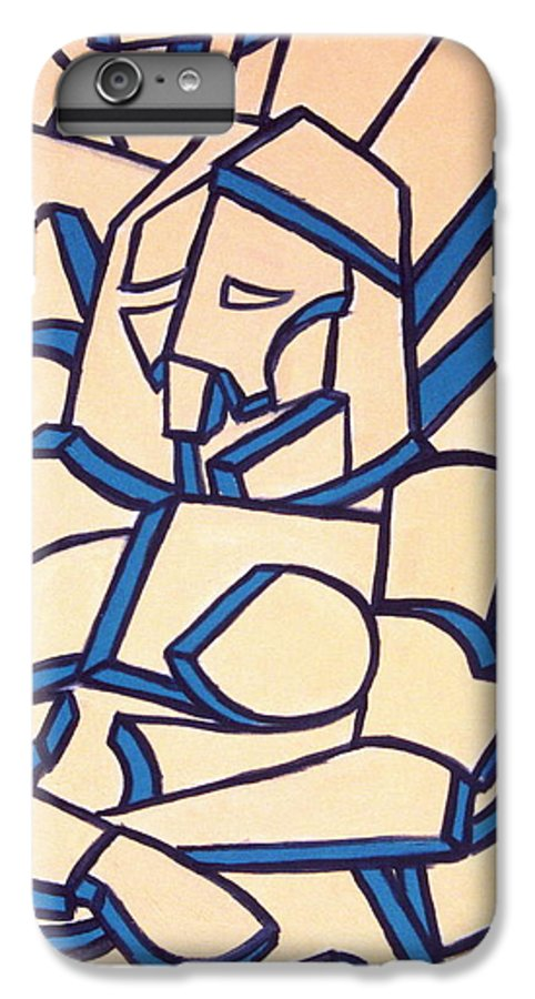 Girl IPhone 6 Plus Case featuring the painting Seated Women by Thomas Valentine