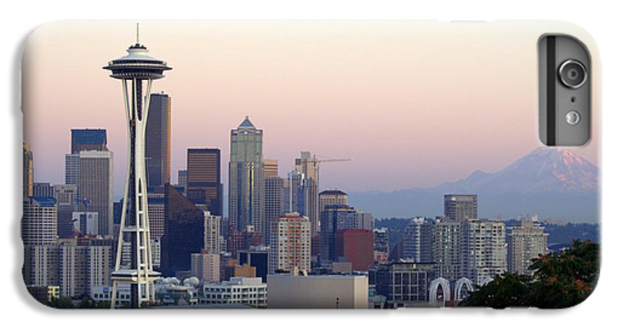 Mountain IPhone 6 Plus Case featuring the photograph Seattle by Larry Keahey