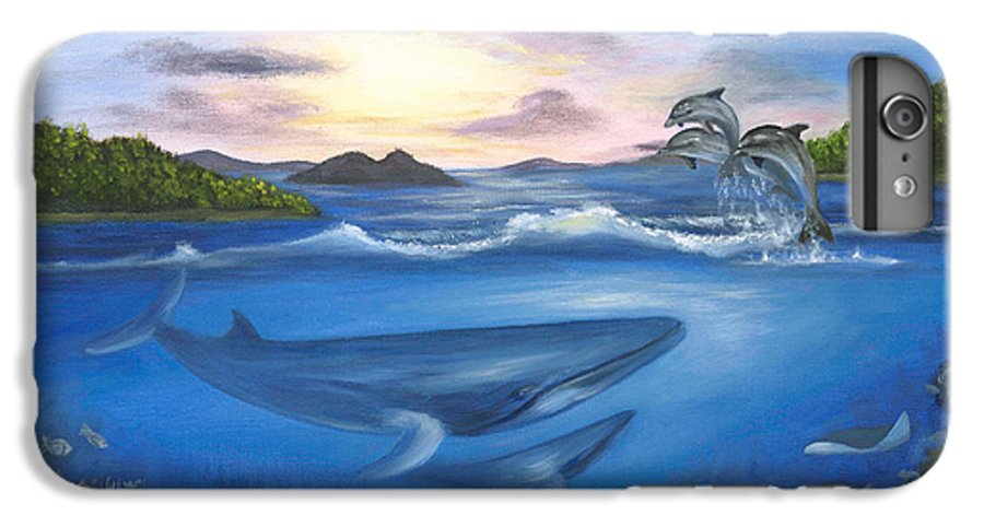 Landscape IPhone 6 Plus Case featuring the painting Seaworld by Anne Kushnick