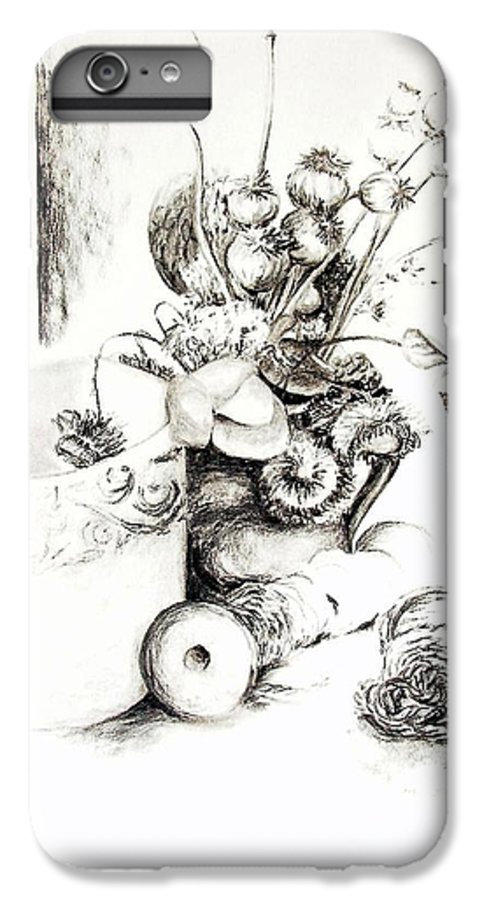 Still Life IPhone 6 Plus Case featuring the drawing Sec by Muriel Dolemieux