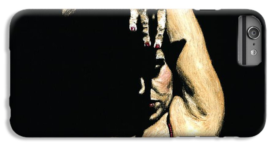 Flamenco IPhone 6 Plus Case featuring the painting Seclusion Del Flamenco by Richard Young