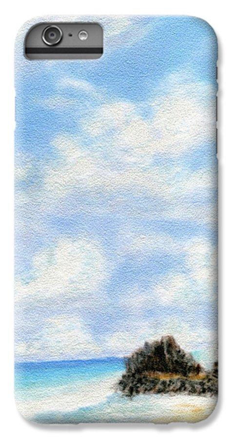 Coastal Decor IPhone 6 Plus Case featuring the painting Secret Beach Sky by Kenneth Grzesik