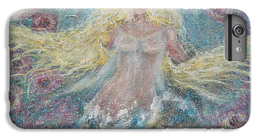 Angel IPhone 6 Plus Case featuring the painting Secret Garden Angel 3 by Natalie Holland
