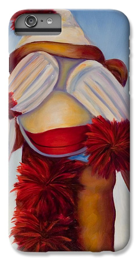 Children IPhone 6 Plus Case featuring the painting See No Bad Stuff by Shannon Grissom