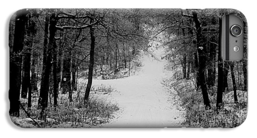 Snow IPhone 6 Plus Case featuring the photograph See Where It Leads. by Jean Macaluso