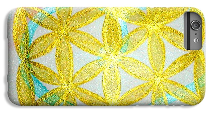 Sacred Geometry IPhone 6 Plus Case featuring the painting Seed Of Life by Chandelle Hazen