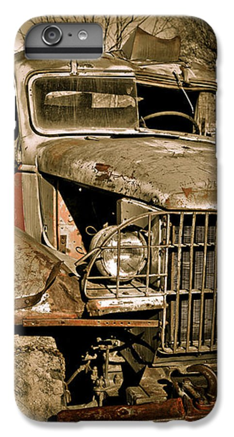 Old Vintage Antique Truck Worn Western IPhone 6 Plus Case featuring the photograph Seen Better Days by Marilyn Hunt