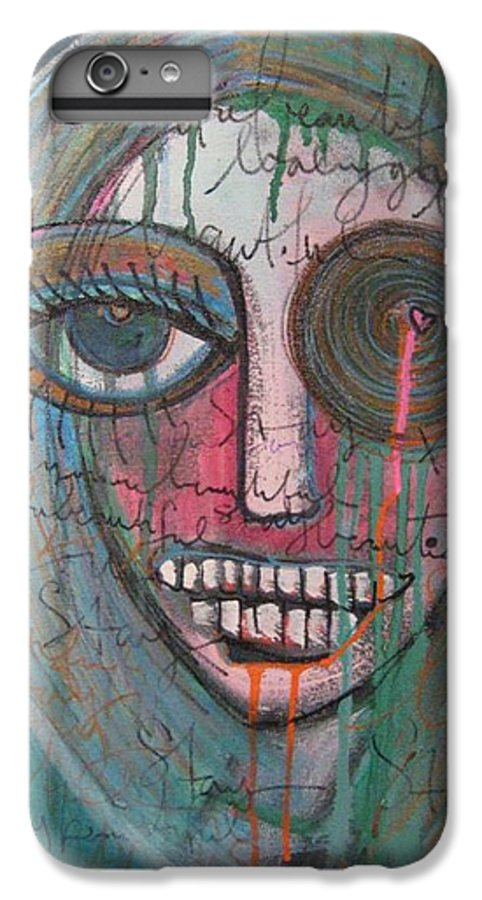 Self Portraits IPhone 6 Plus Case featuring the painting Self Portrait Youre Beautiful by Laurie Maves ART