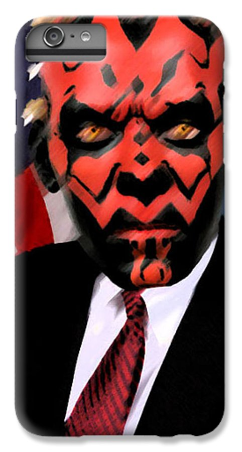 Star Wars IPhone 6 Plus Case featuring the digital art Senator Darth Maul by Eric Forster